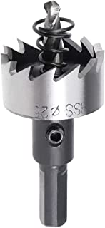 uxcell 25.5mm HSS Drill Bit Hole Saw for Stainless Steel Metal Alloy Wood
