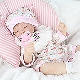YIHANGG Bebe Reborn Poupon Realiste 18 Pouces 45 Cm Poupée Reborn Silicone Princesse Enfants Jouet Cadeau d'anniversaire