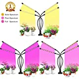 New Full Spectrum Grow Light,48W 96LED Three Plant Spectrum,Red/Blue/Warm Spectrum,Meet Multiple Plant Growth,4H/8H/12H Cycle Timer,10 Levels Dimming,Indoor Plant Light