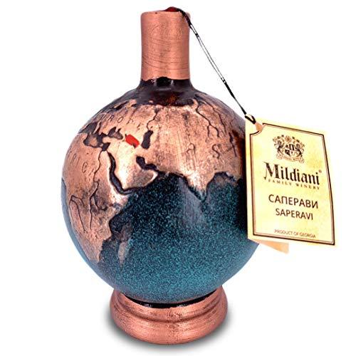 Mildiani Rotwein Globus trockener Rotwein Saperavi 0,75L georgischer Wein EUR (31,65 / l)