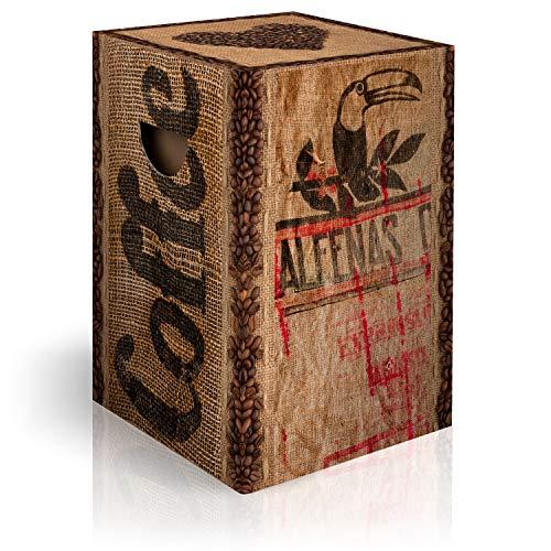 murando Papphocker Motiv Kaffee Coffee 45x30x30 cm faltbar Papier Hocker ergonomischer Karton Photohocker Falthocker j-A-0068-ap-a