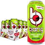 BANG Caffeine Free Energy Drink, 0 Calories, Sugar Free with Super Creatine, 16 Fl Oz (Pack of 12) Candy Apple Crisp 192 Ounce
