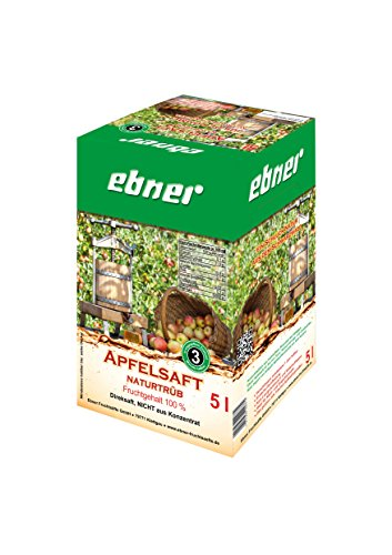 Ebner Apfelsaft Direktsaft naturtrüb 5 Liter Bag-in-Box