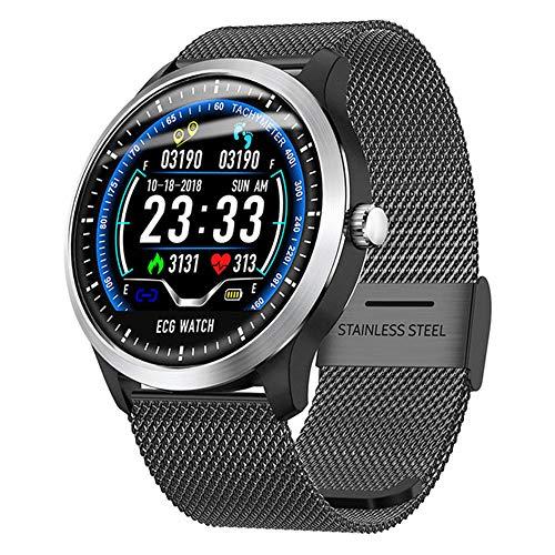 ZYD N58 Neue Männer ECG Smart-Digital-Armbanduhr Female Smart-Medikamente Erinnerung Pulsuhr Kalorie Schritt Armbanduhr,B