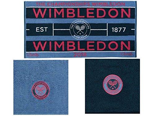 Wimbledon - Toalla de Tenis para Mujer 2018 y 2 Toallas de Invitados a Juego.