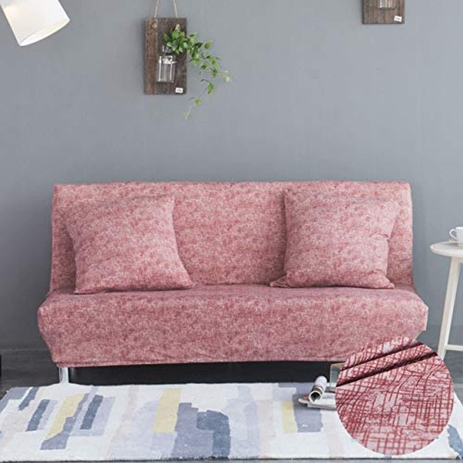 Stripped Pattern Folding Sofa Bed Cover No Armrest All-Inclusive Slip-Resistant Couch Cover Stretch Slipcover housse de canap   color 4, L 160-185cm