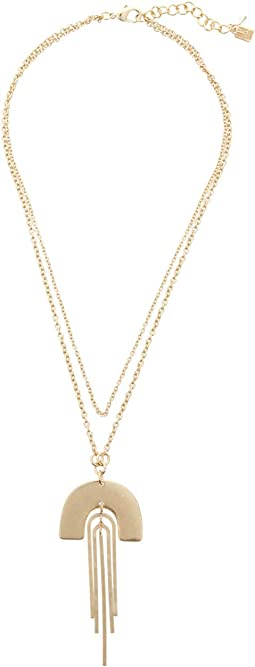 Double Chain Frontal Necklace
