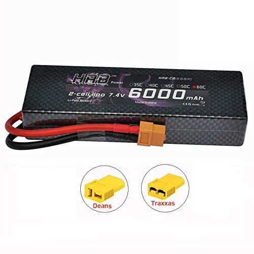 HRB batería de Lipo del Paquete 7,4V 6000MAH 2S 60C para la