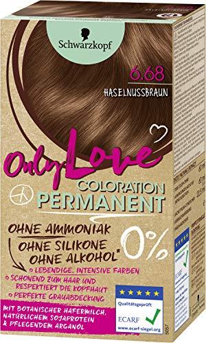 Schwarzkopf Only Love Coloration 6.68 Haselnussbraun, 143 ml
