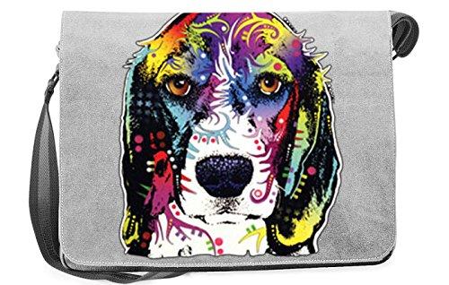 Honden artikel hond motief schoudertas voor hondenhouder met hondentas tas canvas beagle hond hondenbezitter hondenhouder dog hond artikel dog hondenvriend