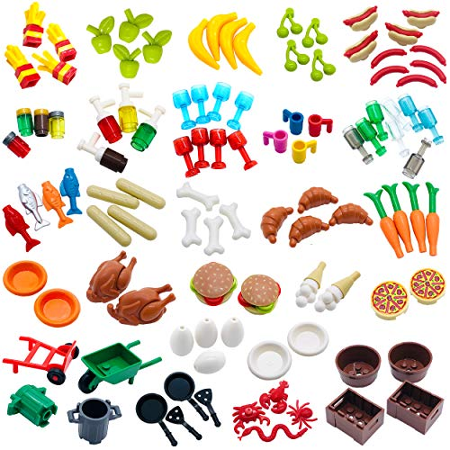 Kitchen Food Accessories Building Block Toy Brick Compatible for Major Brands - for Mini Figure Part