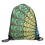 uykjuykj Bolsos De Gimnasio,Mochilas,Drawstring Backpack Bag Peacock Hipple Rucksack For Gym Travel Color 02 Lightweight Unique 17x14 IN