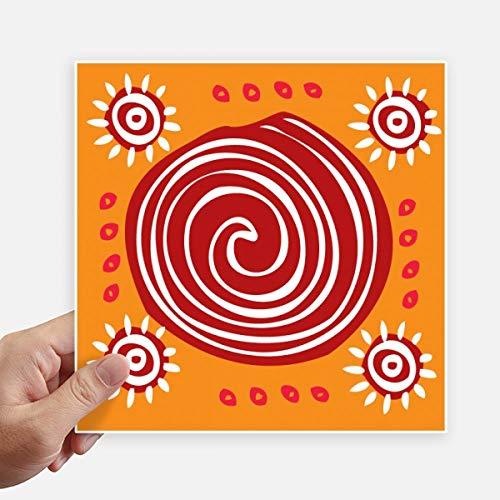 DIYthinker rode schroef Mexico Totems oude beschaving plein Stickers 20 Cm muur koffer Laptop Motobike Decal 4 Stks