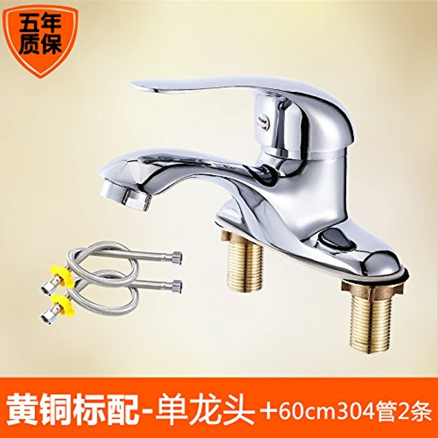 Gyps Faucet Single-Lever Washbasin Mixer Tap Brass Body Hot and Cold Basin Two Holes Basin Three Hole Basin Mixer Tap Bathroom Tap
