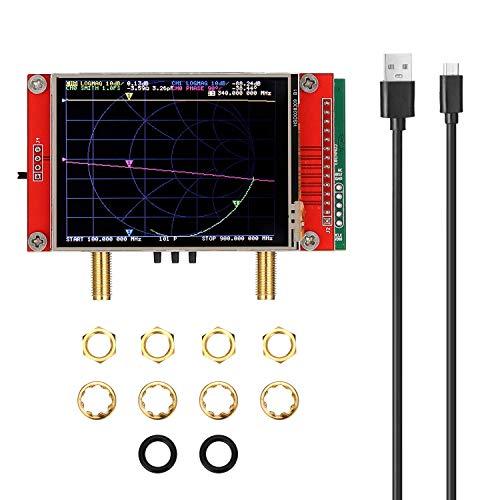 WYZXR 3G Vector Network Analyzer, 2,8-Zoll-TFT-LCD-Touchscreen-Display SAA-2 NanoVNA V2-Antennenanalysator Kurzwellen-HF-UKW-UHF 50 kHz ~ 3 GHz