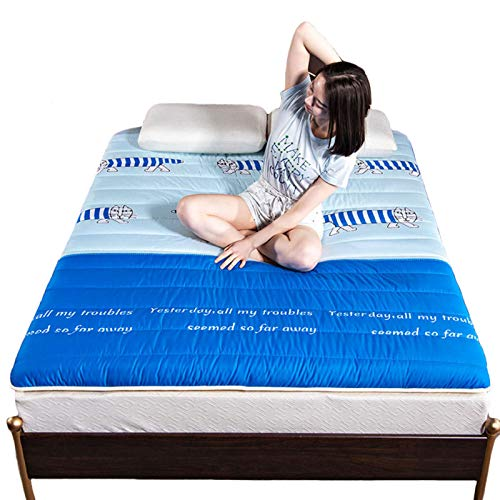 YAHAO Futon Mattresses Double Japanese Thick Warm Tatami Mattress Soft And Breathable Sleeping Floor Mat Student Dormitory Folding Lazy Bed For Living Room Bedroomguest,C-150 * 200cm