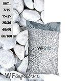 WUEFFE S.R.L. Ciottoli di Marmo Bianco Carrara - Sacco da 25 kg - Sassi Pietre Giardino (40/60)