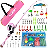 Best Fishing Pole For Kids - ODDSPRO Kids Fishing Pole Pink, Portable Telescopic Fishing Review