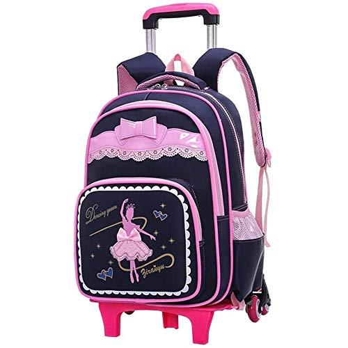 S$S Schooltas rugzak op wieltjes nieuwe wielen rugzak voor meisjes School Roller rugzak kinderen rollen bookbag waterdichte rugzak