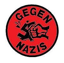 Gegen Nazis - Aufnäher, Farbe: Rot/Schwarz
