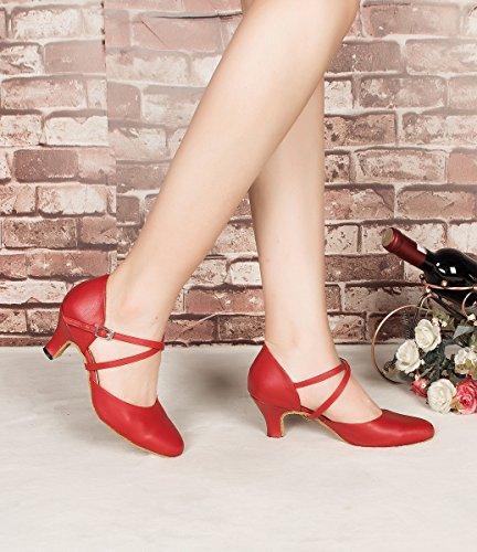 Minitoo , Damen Tanzschuhe , Rot – rot – Größe: 39 - 6