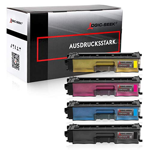 4 Logic-Seek Toner kompatibel für Brother HL-L8250cdn, HL-L8350cdw, MFC-L8650cdw - Schwarz 4.000 Seiten, Color je 3.500 Seiten