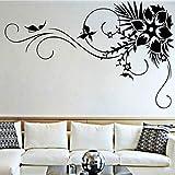 57x90cm creativo sólido patrón de flor de vid Wall Art stickers para sala...