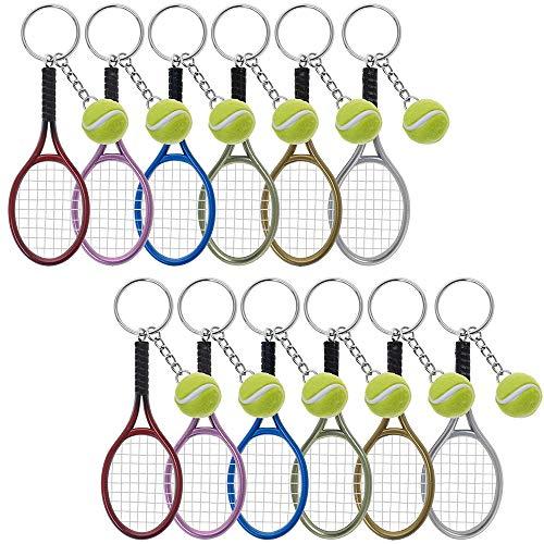 aspire Lot de 24 porte-clés en plastique pour raquette de tennis