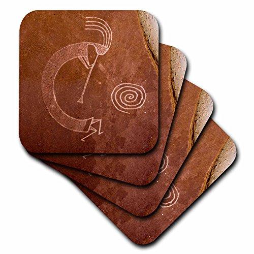 3dRose CST_92520_1 Piktogramme der Pueblo Indianer, Indianer, Indianer, Us32 Awy0010, Angel Wynn, weich, 4 Stück