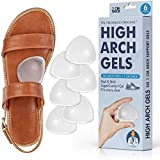 Dr. Frederick's Original High Arch Support Gel Inserts - 6 Pcs - Peel & Stick SuperComfort Gel - Great for Sandals - Dress Shoes - Women & Men