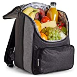 VonShef 18L Cooler Backpack - Soft Insulated Picnic Cooler Bag - Ideal for Outdoor Use, Picnic, Camping, Hiking, Beach and Grocery
