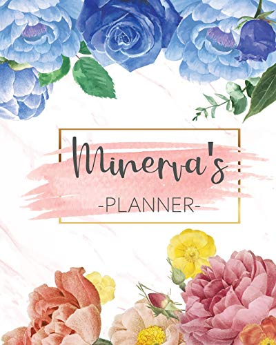 Minerva's Planner: Monthly Planner 3 Years January - December 2020-2022   Monthly View   Calendar Views Floral Cover - Sunday start
