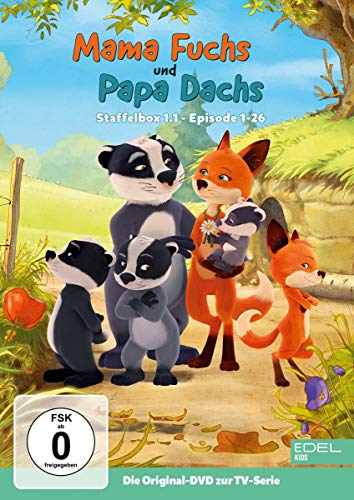 Mama Fuchs und Papa Dachs - Staffelbox 1.1 - Die DVD zur TV-Serie (Folgen 1 - 26)