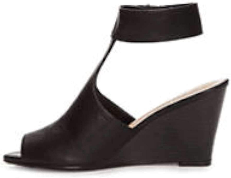 Kaari blå kvinnor Brittany Peep Toe Casual Platform Platform Platform Sandals, svart, Storlek 8.5  outlet butik