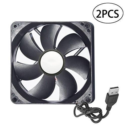 LEDMOMO 120mm USB Case Fan USB Cooling Fan Radiator 5V USB Fan USB Fan Compatibel for TV Box, Router, Modem USB Fan Easy to Carry