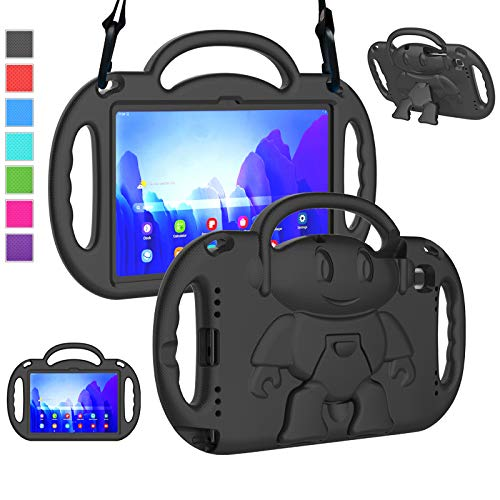 """LTROP Kids Case for Samsung Galaxy Tab A7 2020, Galaxy Tab A7 Case, Samsung Tab A7 Case for Kids (SM-T500/ T505/ T505N/ T507), Shockproof Handle Stand Case for Samsung Galaxy Tab A7 2020 10.4"""",Black"""
