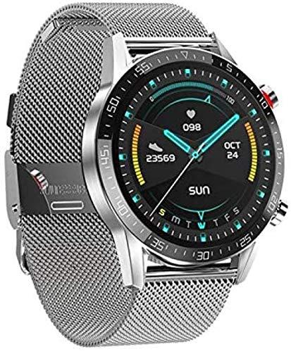 Más nuevo L13 reloj inteligente soporte Bluetooth llamada PPG+ECG reloj inteligente hombres IP68 impermeable Full Touch/ronda reloj deportivo