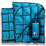 PUFFER WOLF | Extra Large Double Insulated Outdoor Camping Blanket | 2X Puffy, Warm, Packable, Weatherproof,...