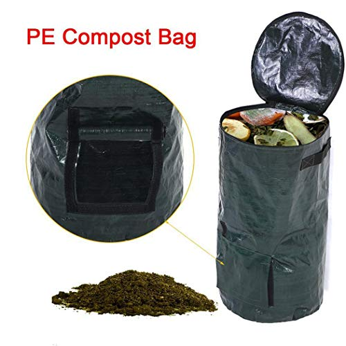 Lowest Prices! Fanxis Organic Waste Kitchen Environmental PE Cloth Planter Garden Yard Compost Bag T...