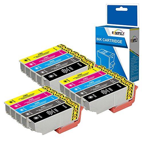 Fimpex Compatibile Inchiostro Cartuccia Sostituzione Per Epson XP-530 XP-540 XP-630 XP-635 XP-640 XP-645 XP-830 XP-900 33XL (Nero/foto-Nero/Ciano/Magenta/Giallo, 15-Pack)