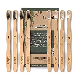 50%OFF Isshah Bamboo Toothbrush ECO Friendly Organic Charcoal Infused BPA Free(Ultra Soft Bristles)