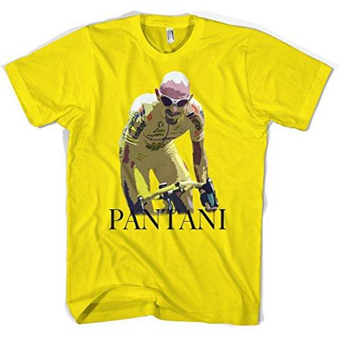 Revolver Tees Pantani Unisex T-Shirt (Yellow, L)