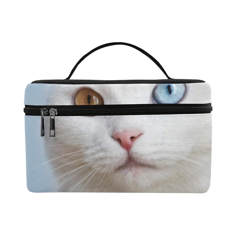 番目オーガニックレースCKYHYC メイクボックス 幼い 白い猫 コスメ収納 化粧品収納ケース 大容量 収納ボックス 化粧品入れ 化粧バッグ 旅行用 メイクブラシバッグ 化粧箱 持ち運び便利 プロ用