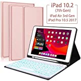 iPad 10.2 7th Generation 2019 Keyboard Case,Boriyuan 7 Colors Backlit Detachable Keyboard Slim