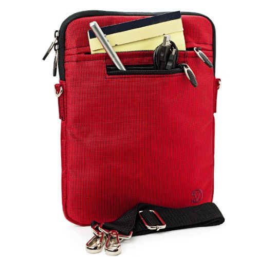 %39 OFF! RED Mighty Nylon Jacket Slim Compact Protective Shoulder Bag Sleeve Carrying Case Cover wit...