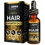 GENIUS Hair Growth Oil, Biotin Hair Growth Serum, for Stronger, Thicker, Longer Hair, Hair Growth Treatment for Women Men With Thinning Hair Loss Serum 1fl oz