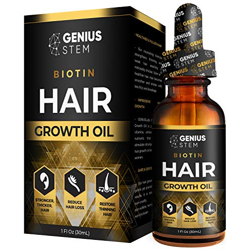 GENIUS Hair Growth Oil, Biotin Hair Growth Serum, for Stronger, Thicker, Longer Hair, Hair Growth Treatment for Women Men With Thinning Hair Loss...
