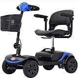 YQTXDS Scooter de Movilidad ultracompacto con Cesta Desmontable, Patinete eléctrico para Personas Mayores y Adultos, Gre (Silla de Ruedas)