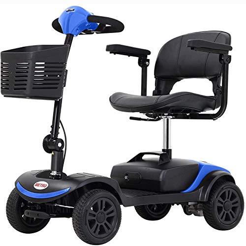 GYPPG Scooter de Movilidad ultracompacto con Cesta Desmontable, Patinete eléctrico para Personas Mayores y Adultos, Gran portabilidad para Viajes, batería de 12 Ah