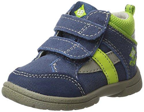 Brütting Spooky V Baby Jungen Sneaker, Blau/ Lemon, 25 EU